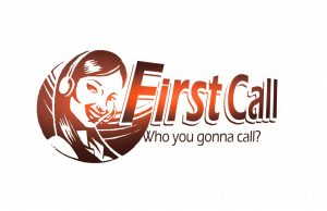 First Call Center Logo: Who you gonna call?